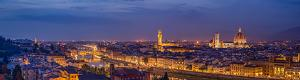 Florence by Night HD Panorama from Piazzale Michelangelo