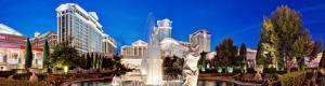 Caesars Palace main fountain & statue of the Winged Victory of Samothrace