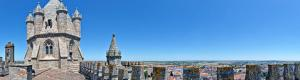 Panoramic view from the roof of the Cathedral of �vora in Portugal
