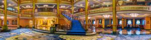 Atrium Lobby of the Disney Fantasy Ship in Virtual Reality