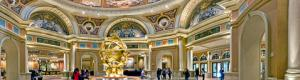 The Lobby of the Venetian hotel-casino on the Las Vegas Strip