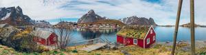 Landscape of the village of Reine in Lofoten Islands Norway